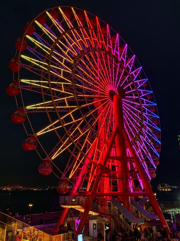 Brightly coloured Ferris Wheel