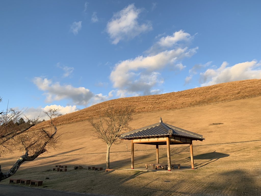 Mount Wakakusa With dead grass, closed for the season