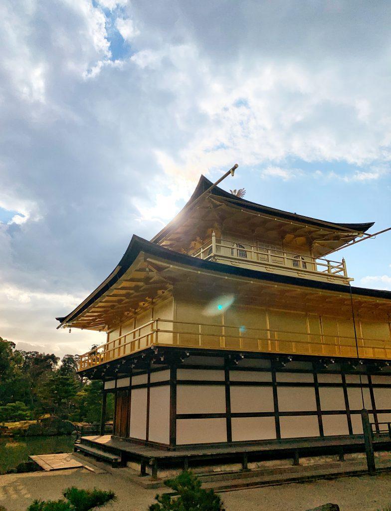 Lens flare at Kinkaku-ji Temple