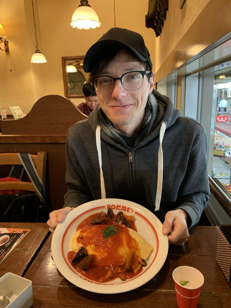 Ryan excited for omurice!