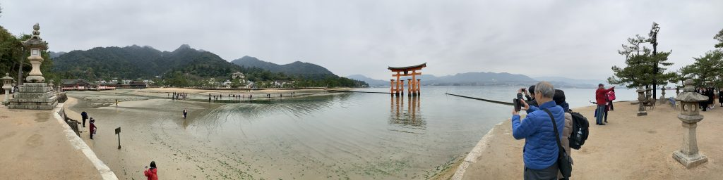 Panoramic view of Itsukushima Shrine