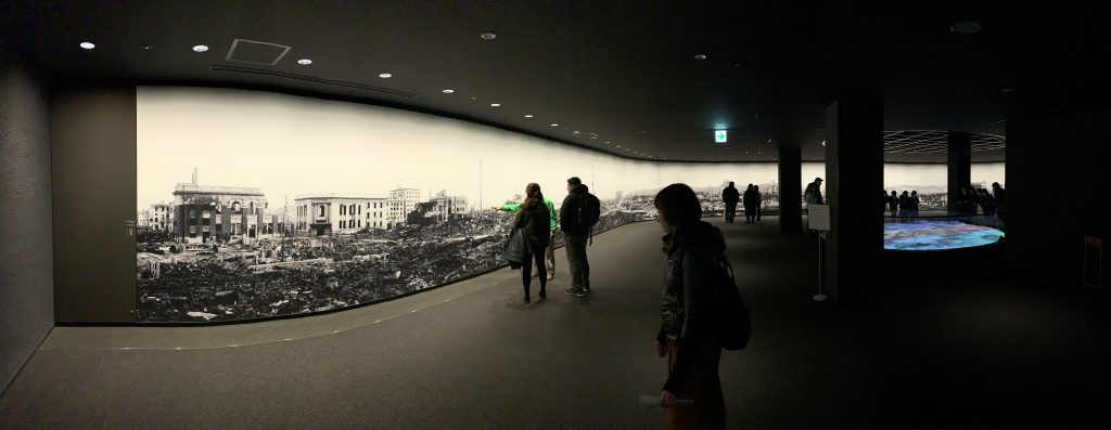 First exhibit room in the Hiroshima Peace Memorial Museum.