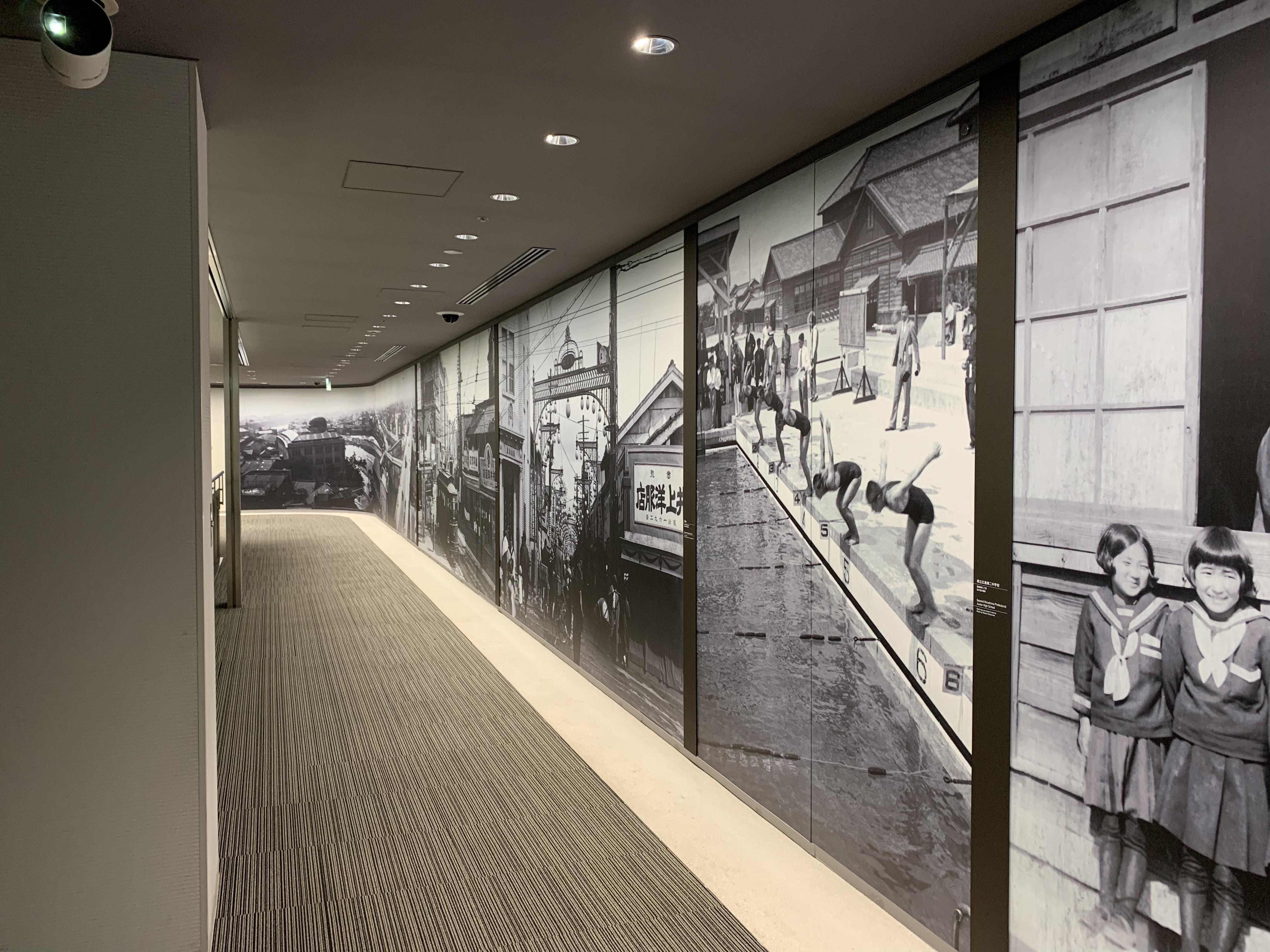 Hallway entryway to the Hiroshima Peace Memorial Museum