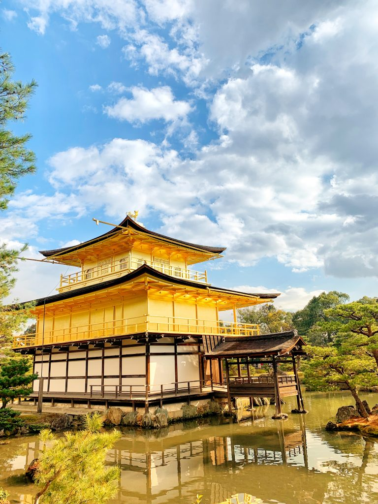 Kinkaku-ji Temple in the sunlight.