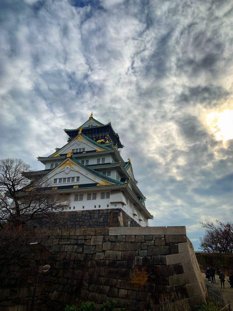 Osaka Castle in the sunlight