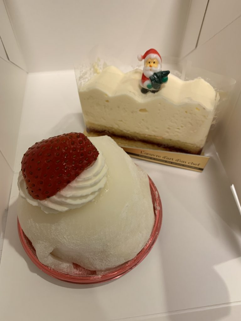 Two Christmas cakes