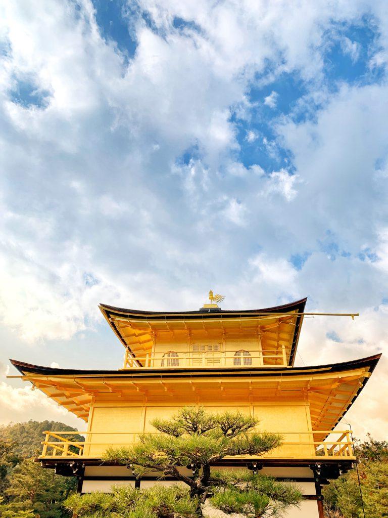 Kinkaku-ji Temple and the sky