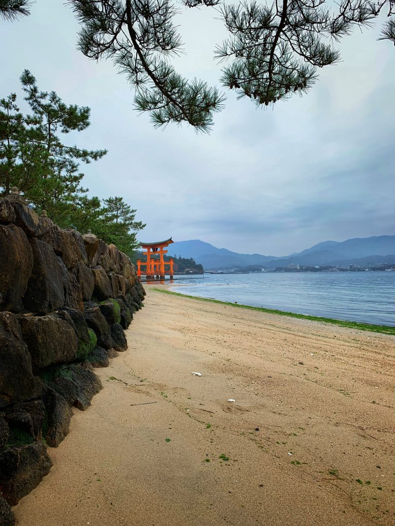 Itsukushima Shrine from the beach