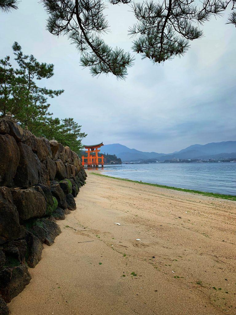 Itsukushima Shrine from the beach